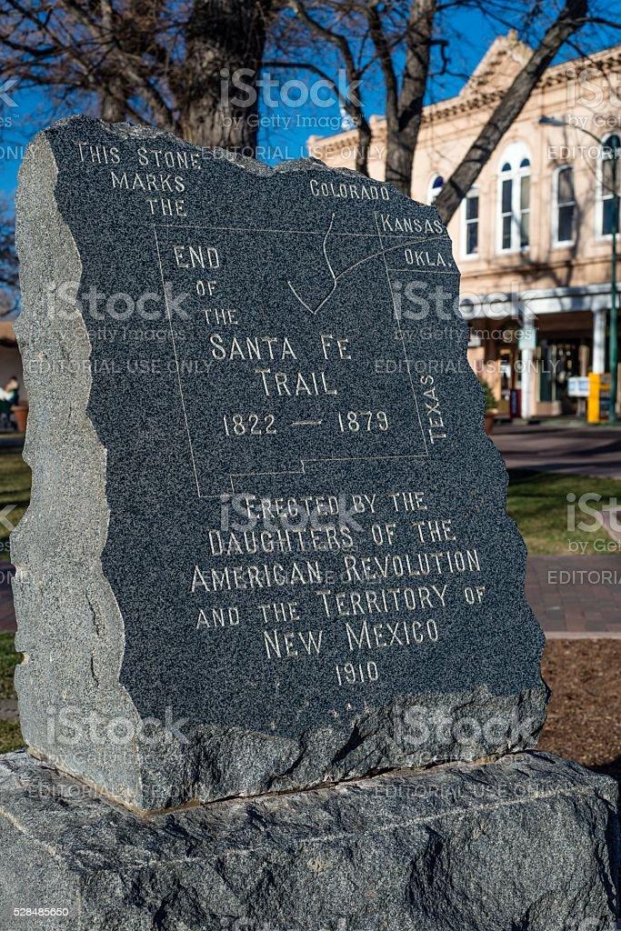 Santa Fe Trail Marker stock photo