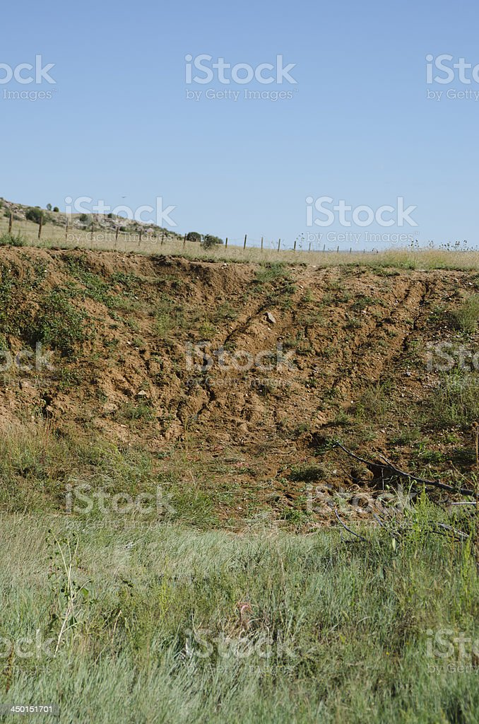 Santa Fe Trail Ruts on the Mountain Branch royalty-free stock photo