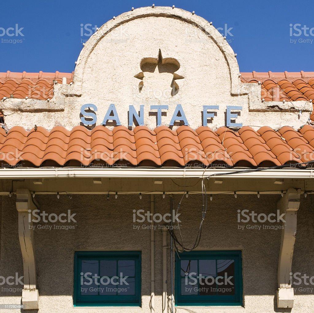 Santa Fe train station stock photo