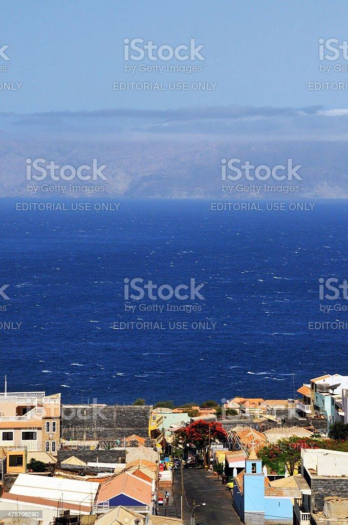 Santa Filomena, an island town stock photo
