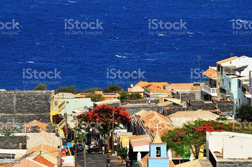 Santa Filomena town in the island stock photo
