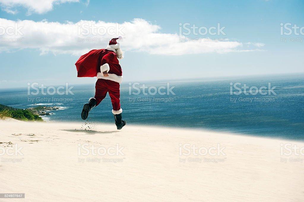 Santa finally gets his Vacation! stock photo