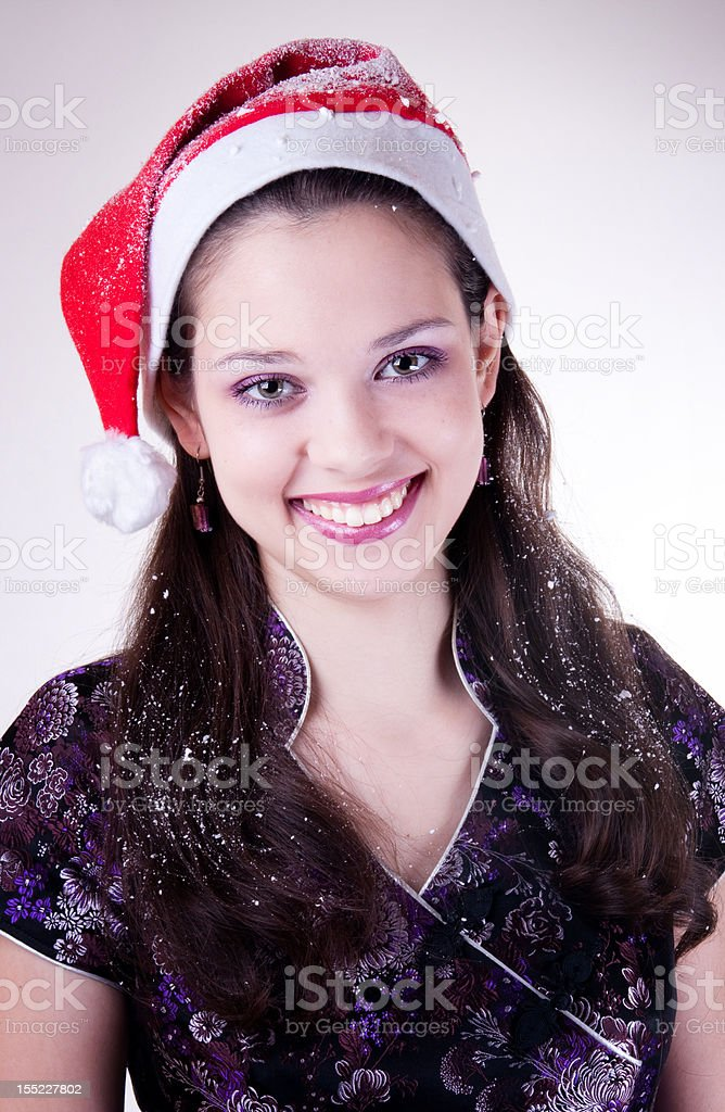 Santa Girl royalty-free stock photo