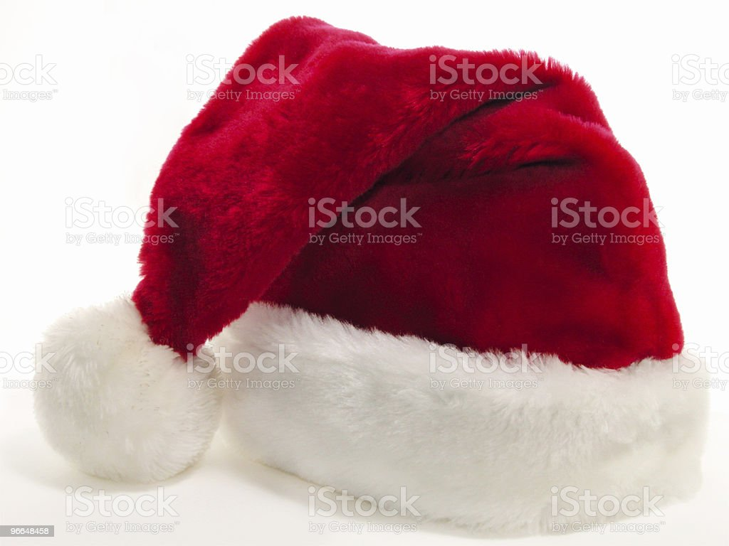 Santa Hat Alone on a White Background royalty-free stock photo