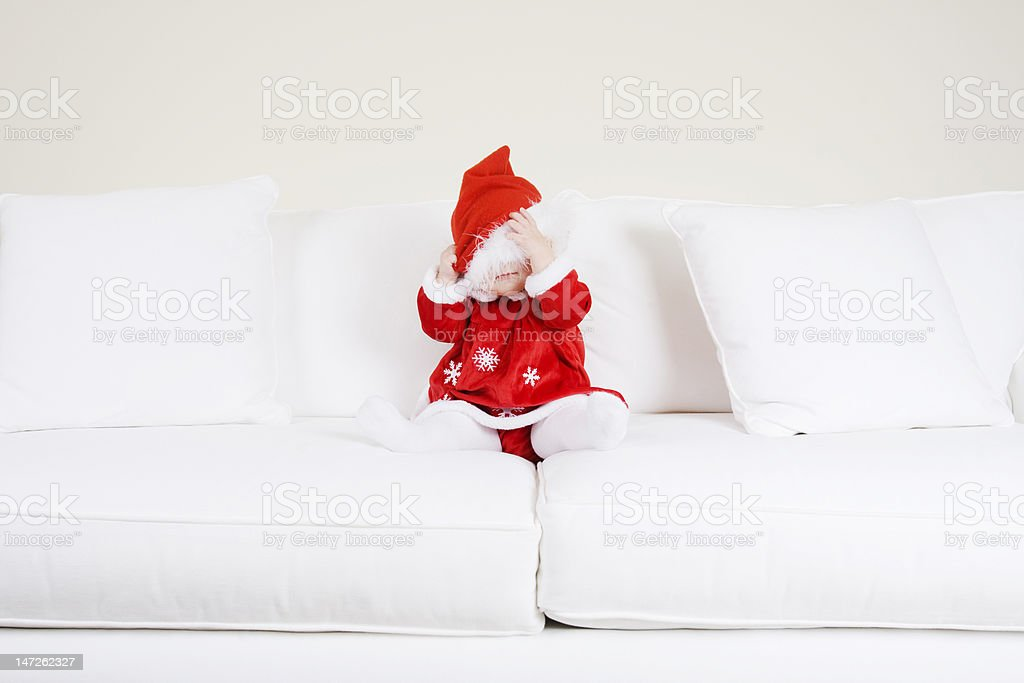 Santa Hat Baby royalty-free stock photo