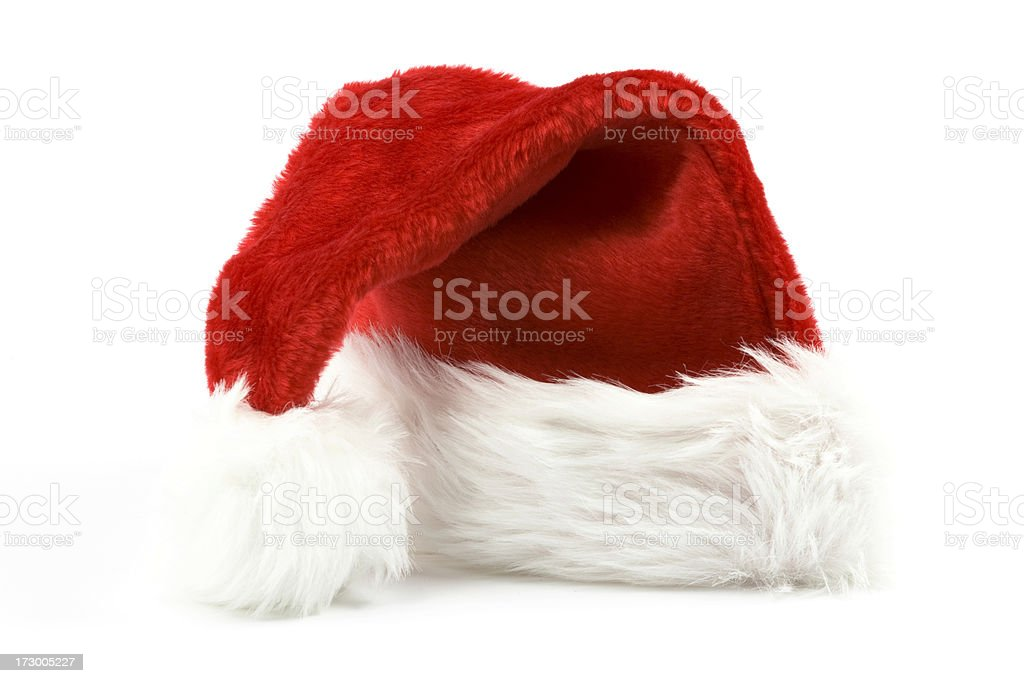 Santa Hat, Christmas Costume, Furry, Red, St. Nick, Holiday royalty-free stock photo
