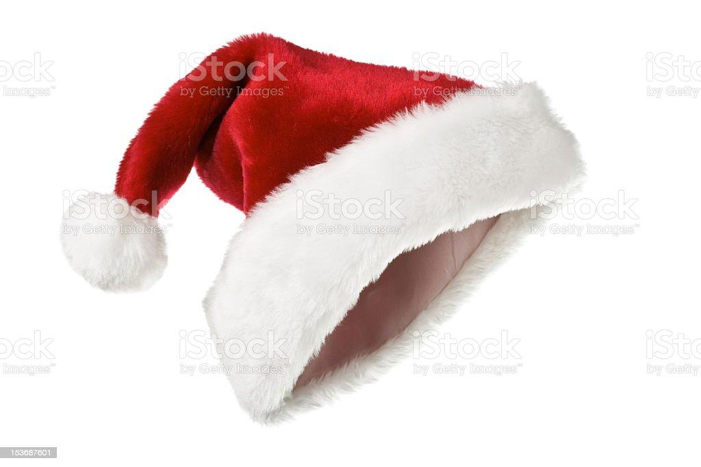 Santa hat isolated on white stock photo