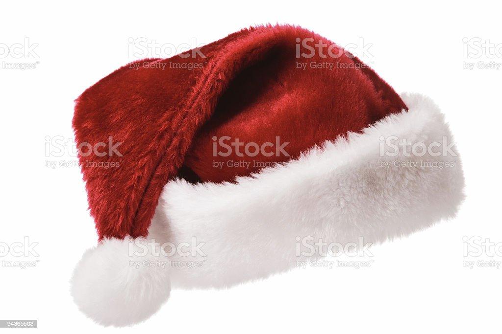 Santa hat isolated on white royalty-free stock photo