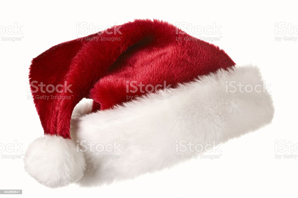 Santa hat isolated on white stock photo