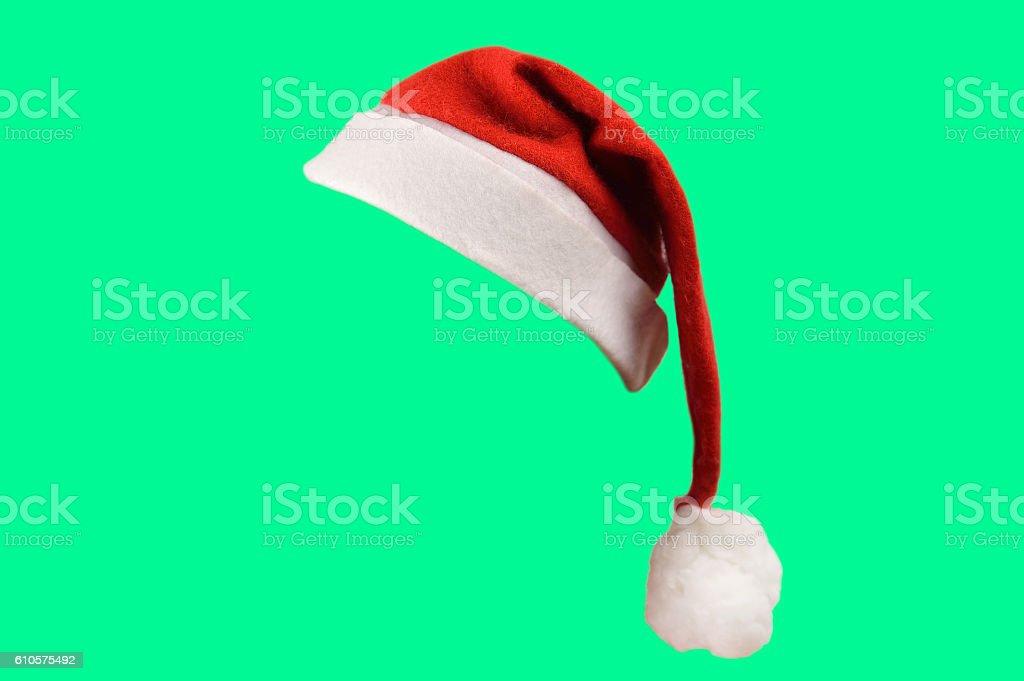 santa hat isolated stock photo