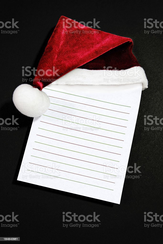 Santa Hat Note royalty-free stock photo