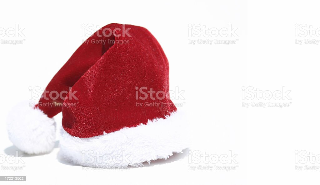 Santa Hat on White Background royalty-free stock photo