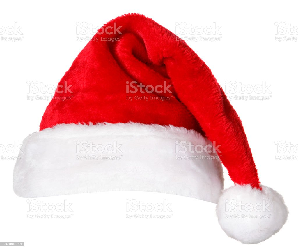 Santa Hat on white stock photo