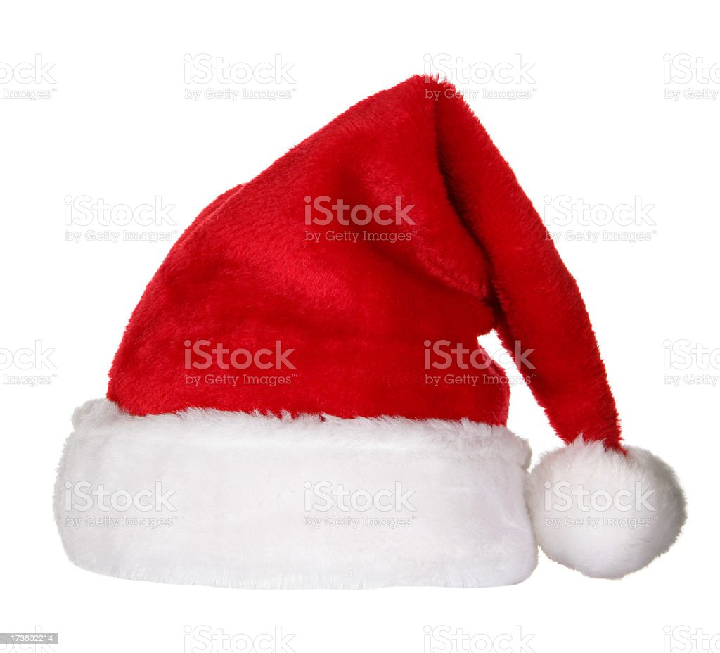 Santa Hat (clipping path) royalty-free stock photo