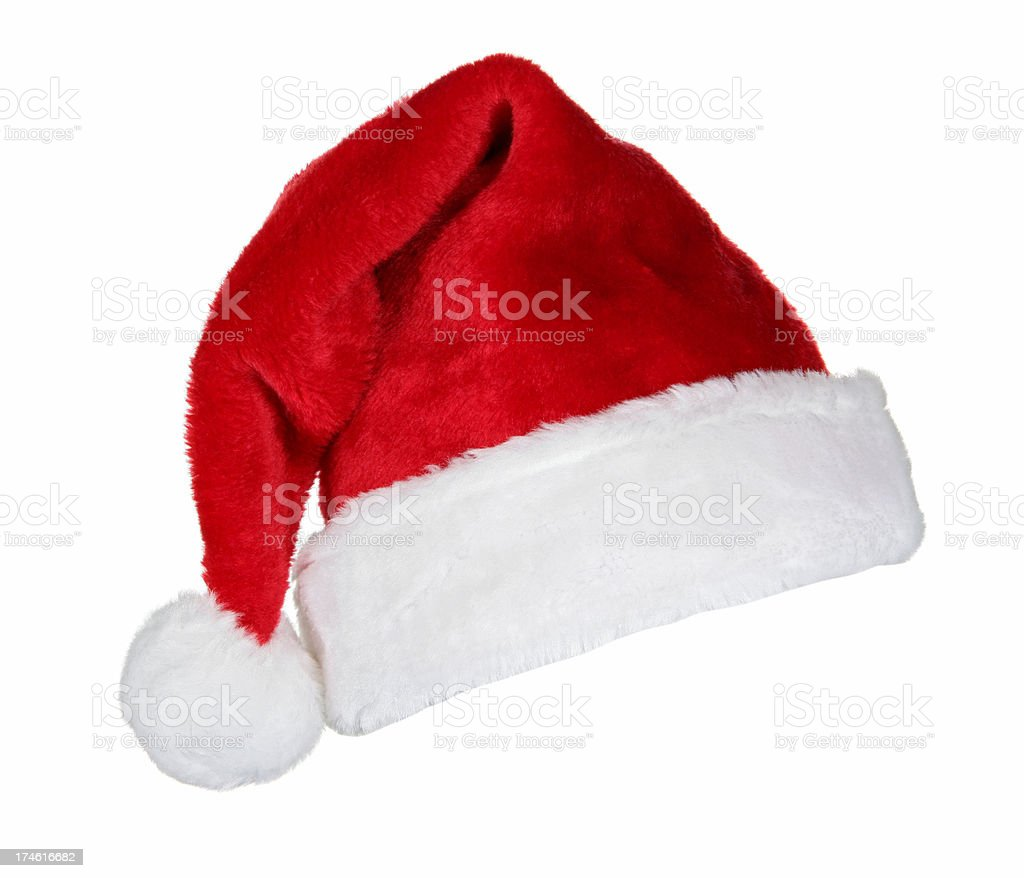 Santa Hat (on white) royalty-free stock photo