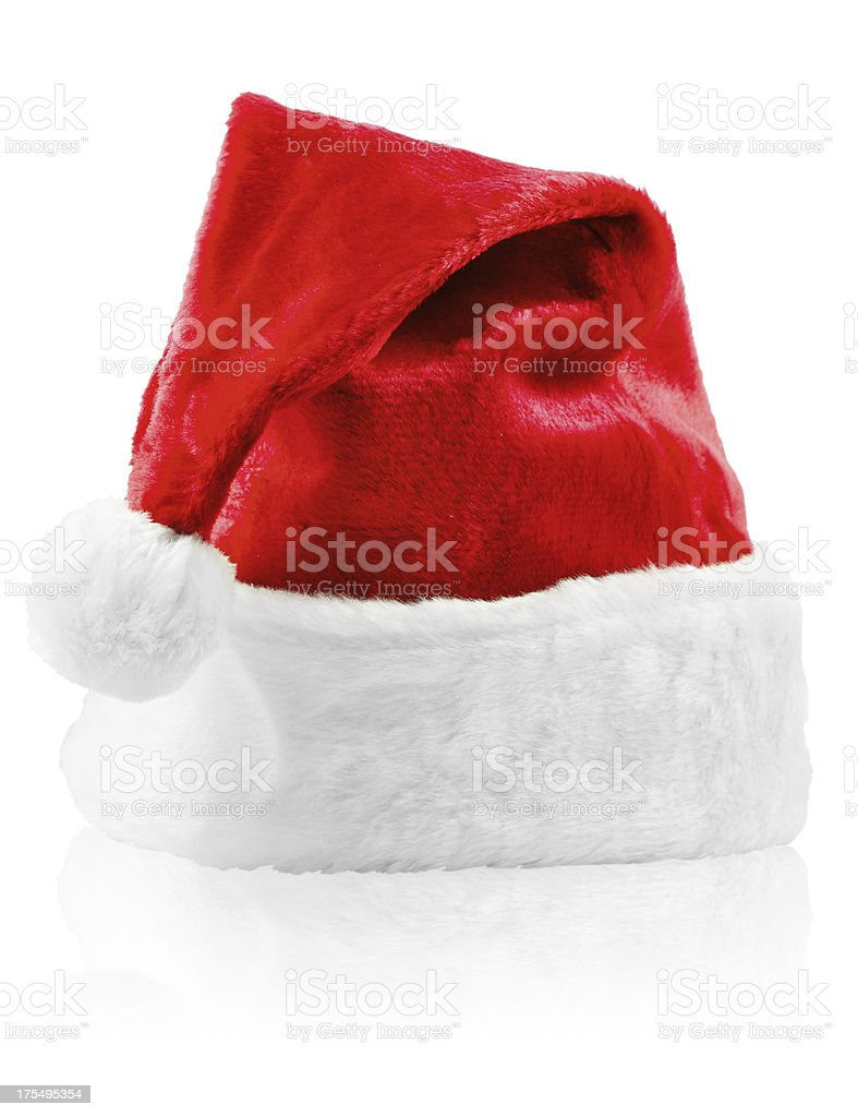 Santa Hat with clipping path stock photo