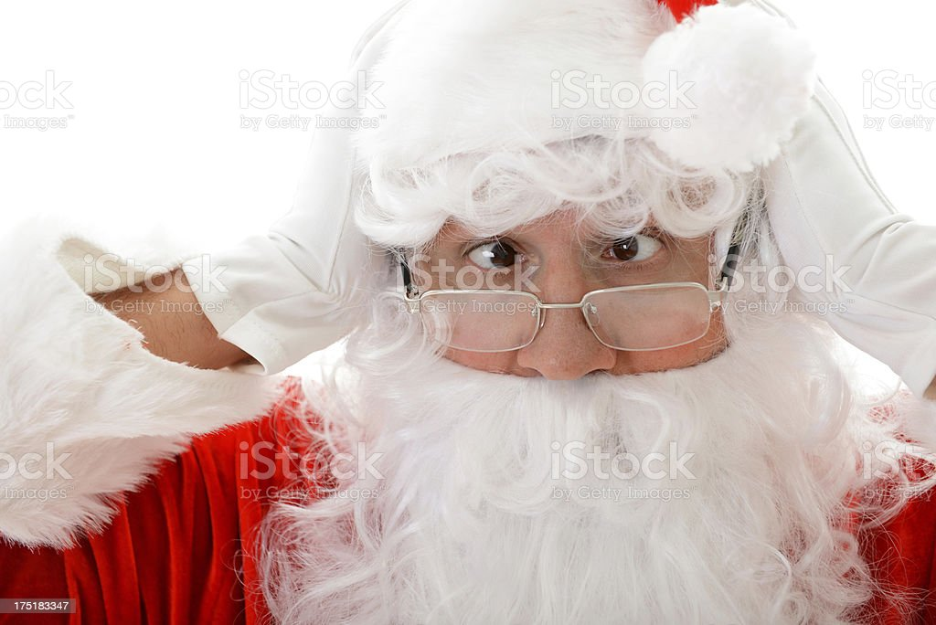 Santa in a panic royalty-free stock photo