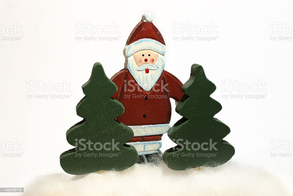 Santa in the forest royalty-free stock photo