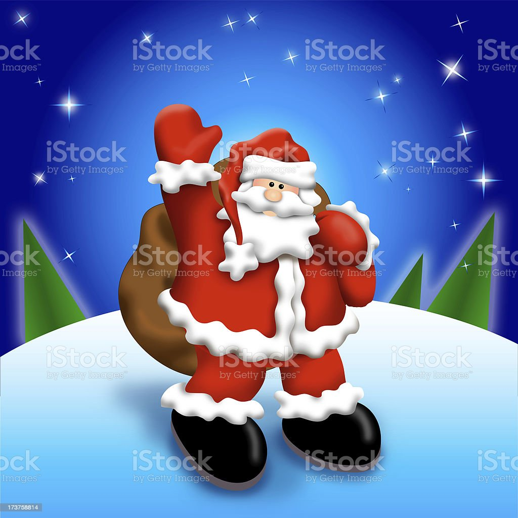 Santa in the Snow (XXL) royalty-free stock photo
