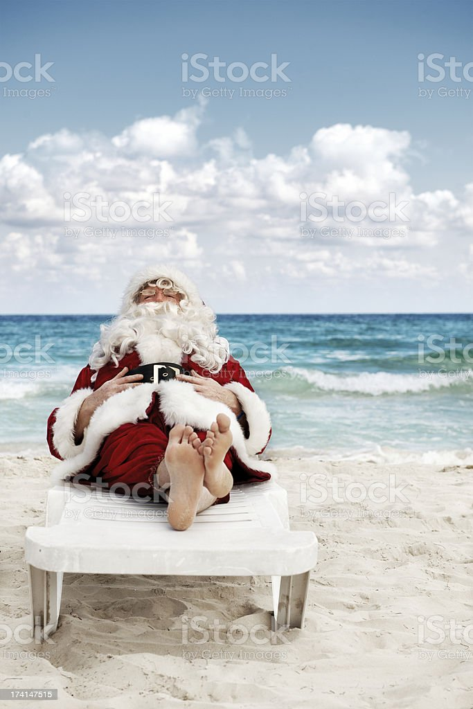 Santa in vacations royalty-free stock photo