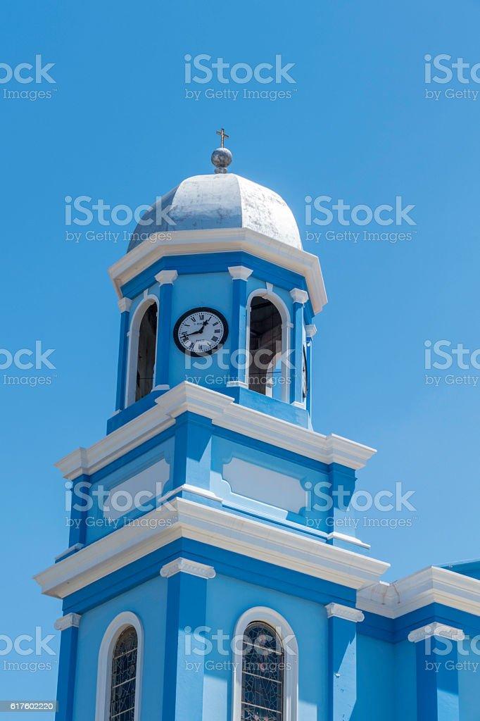Santa Ines Catholic Church tower detail. Cumana, Venezuela stock photo