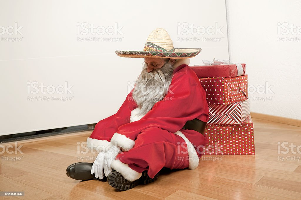 santa is comming to town stock photo