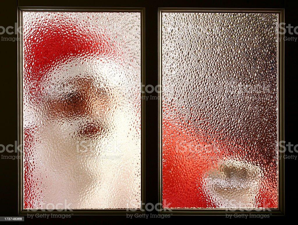 Santa knocking royalty-free stock photo