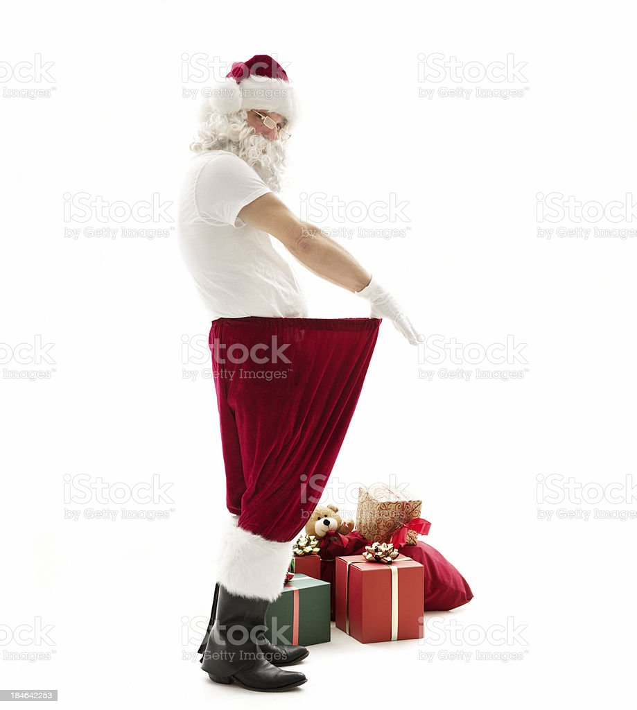 Santa lost weight royalty-free stock photo