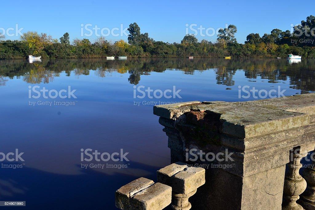 Santa Lucia river stock photo