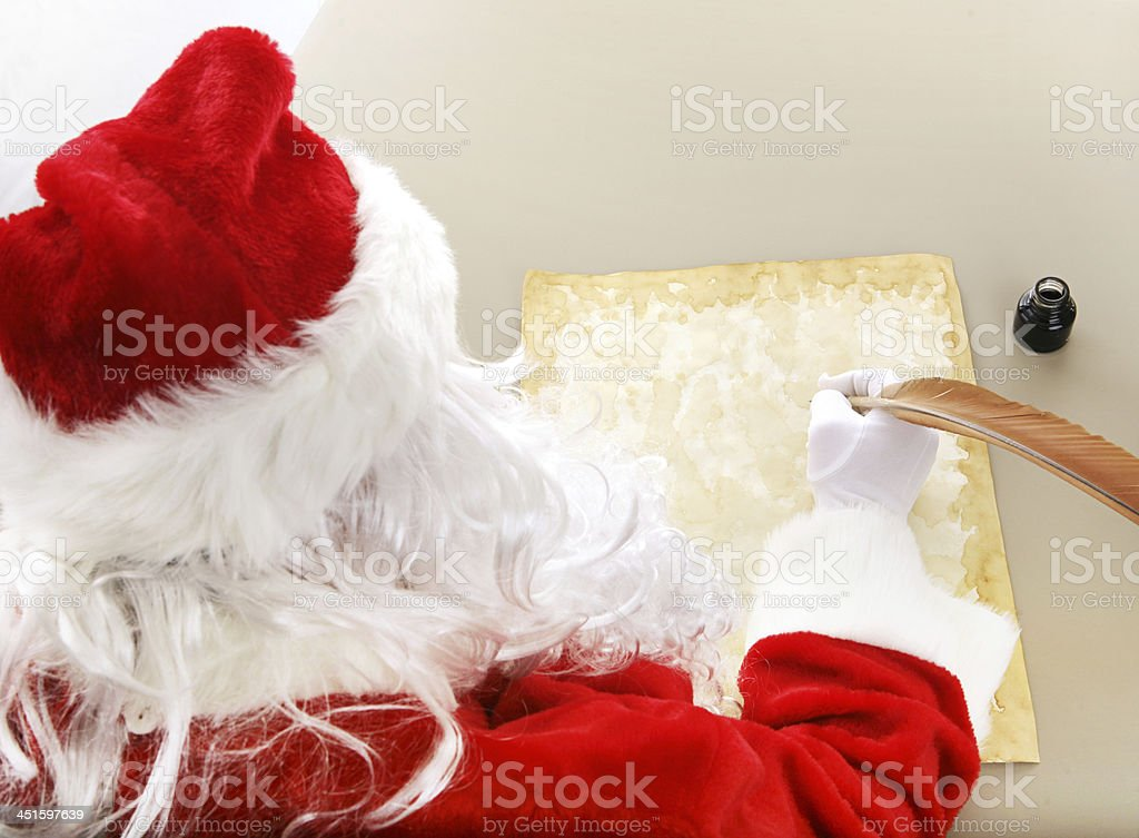 Santa Makes His List stock photo