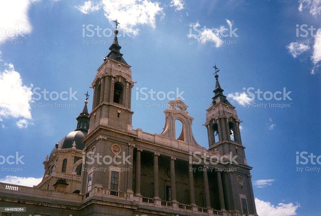 Santa María la Real de La Almudena cathedral, Madrid stock photo