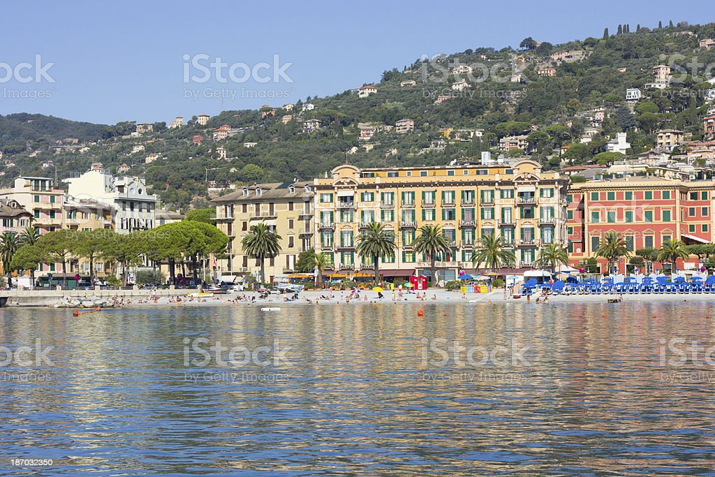 Santa Margherita Ligure in Liguria, Italy royalty-free stock photo