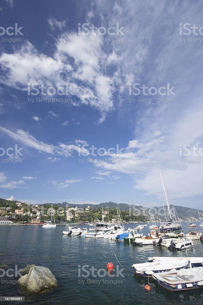 Santa Margherita Ligure in Liguria, Italy royalty-free stock photo