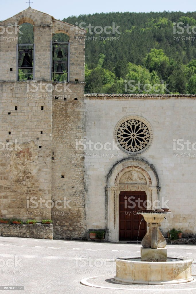 Santa Maria Assunta in Assergi stock photo