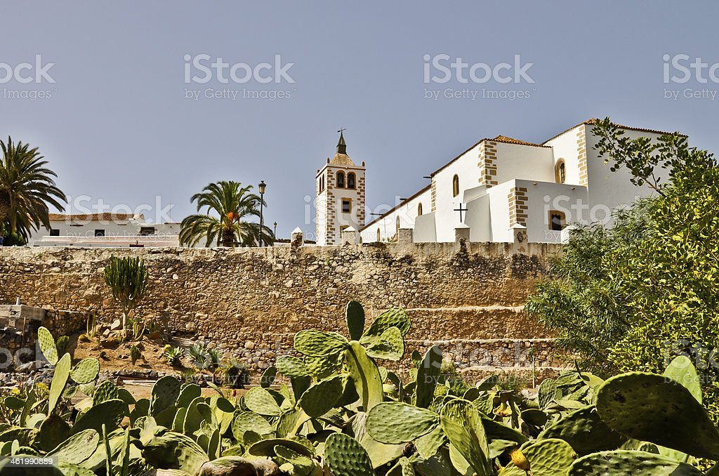 Santa Maria church in Betancuria.  Fuertventura Lizenzfreies stock-foto