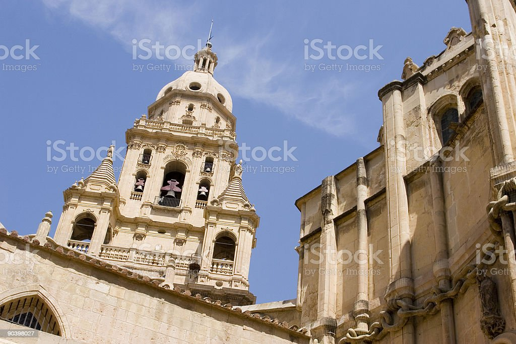 Santa Maria church, Murcia stock photo
