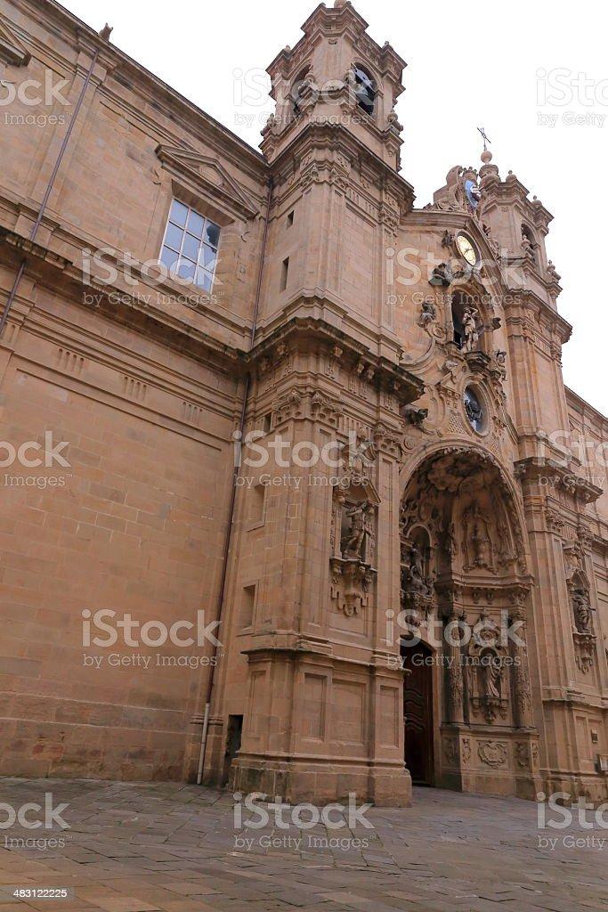 Santa Maria church-Donostia royalty-free stock photo
