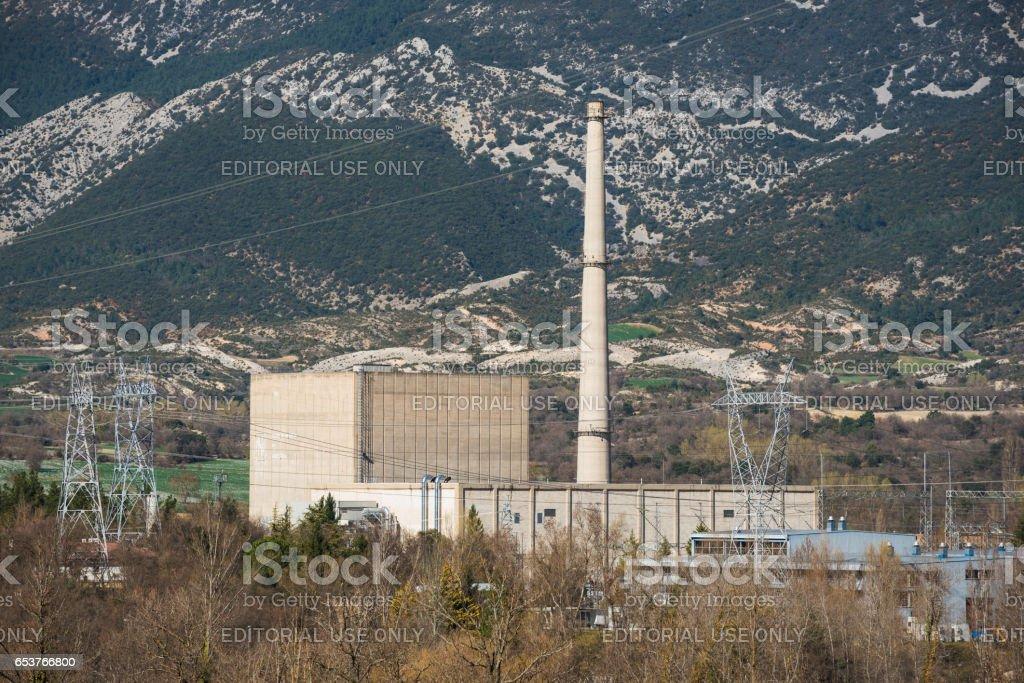 Santa Maria de Garona, nuclear power plant. stock photo