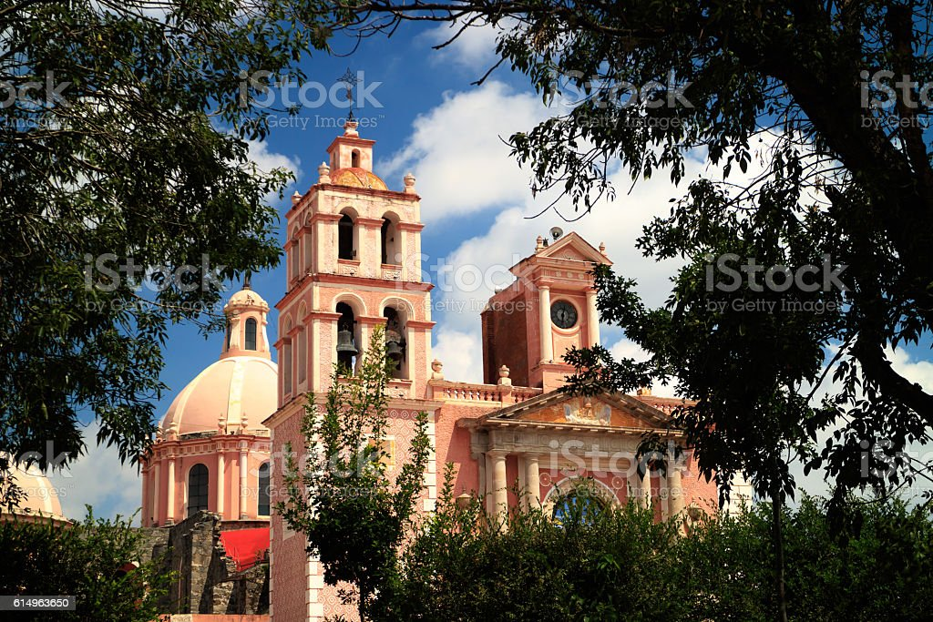Santa Maria de la Asuncion Church stock photo