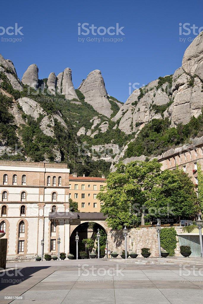 Santa Maria de Montserrat Abbey, Catalonia, Spain. stock photo
