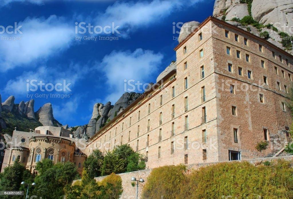 Santa Maria de Montserrat Abbey, Catalonia, Spain stock photo