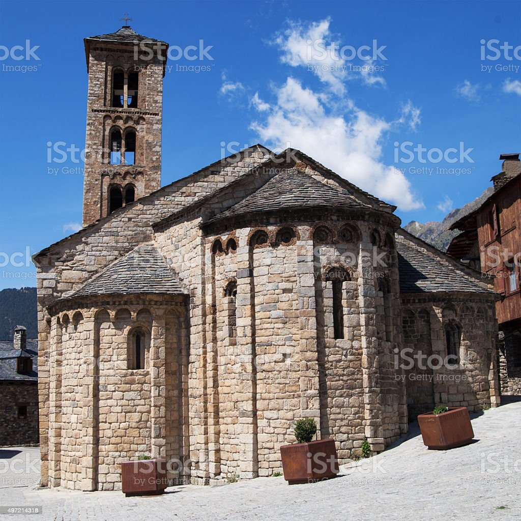Santa Maria de Taull stock photo
