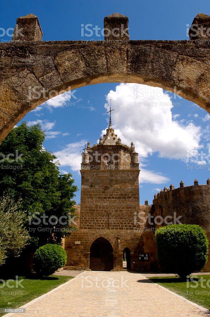 Santa Maria de Veruela, monasterio, Zaragoza stock photo
