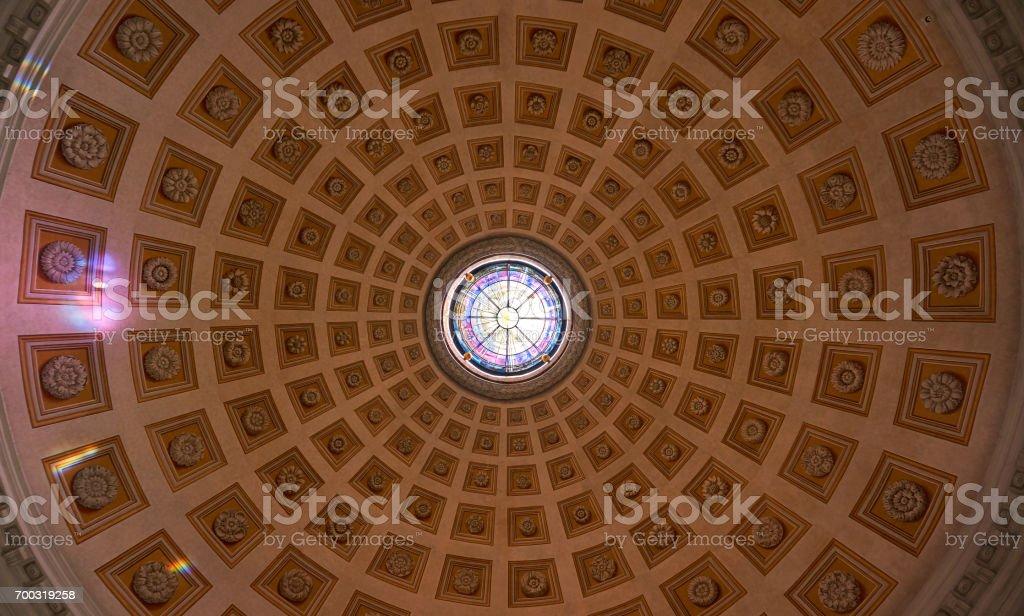 Santa Maria degli Angeli e dei Martiri Church stock photo