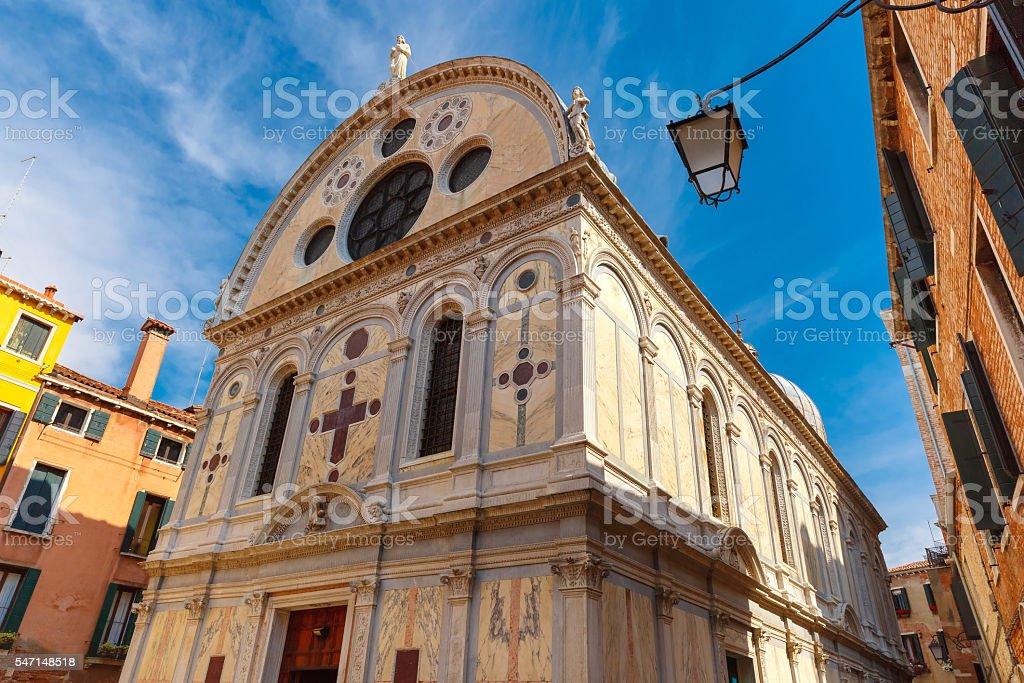 Santa Maria dei Miracoli in Venice, Italia stock photo