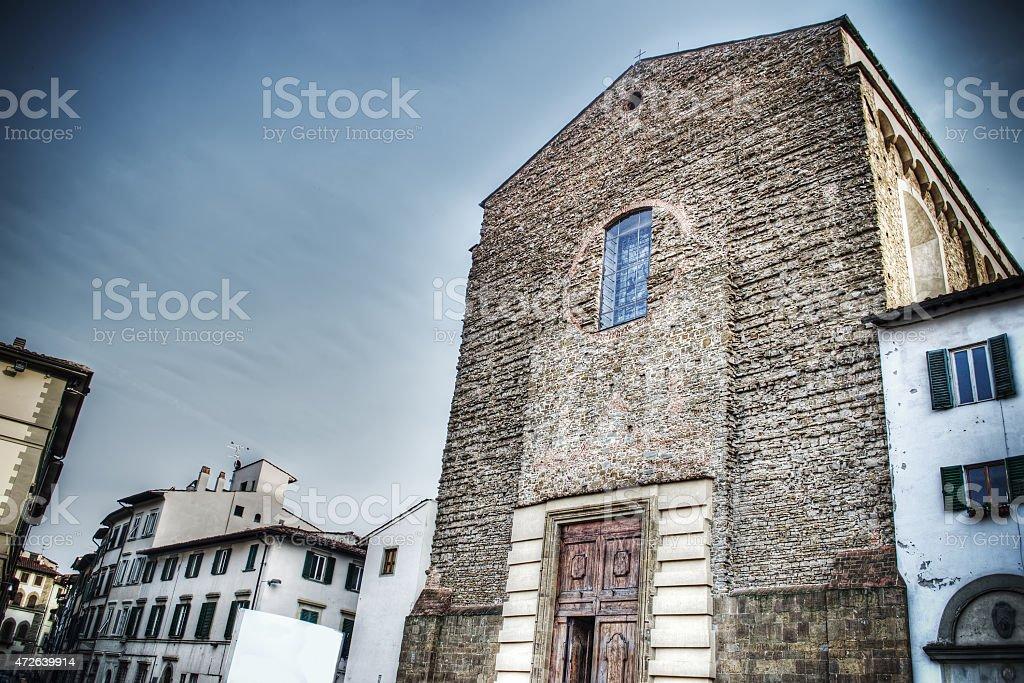 Santa Maria del Carmine church in Florence stock photo