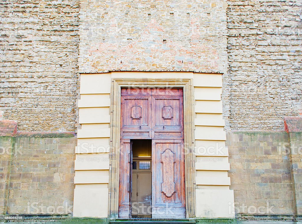 Santa Maria del Carmine entrance stock photo