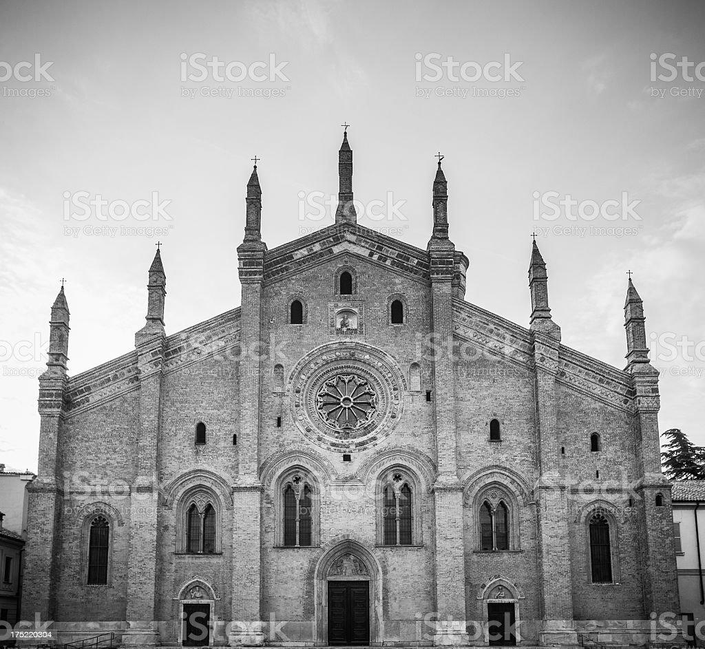Santa Maria del Carmine in Pavia, Italy stock photo