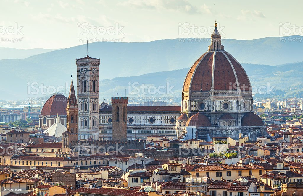 Santa maria del fiore cathedral in florence stock photo