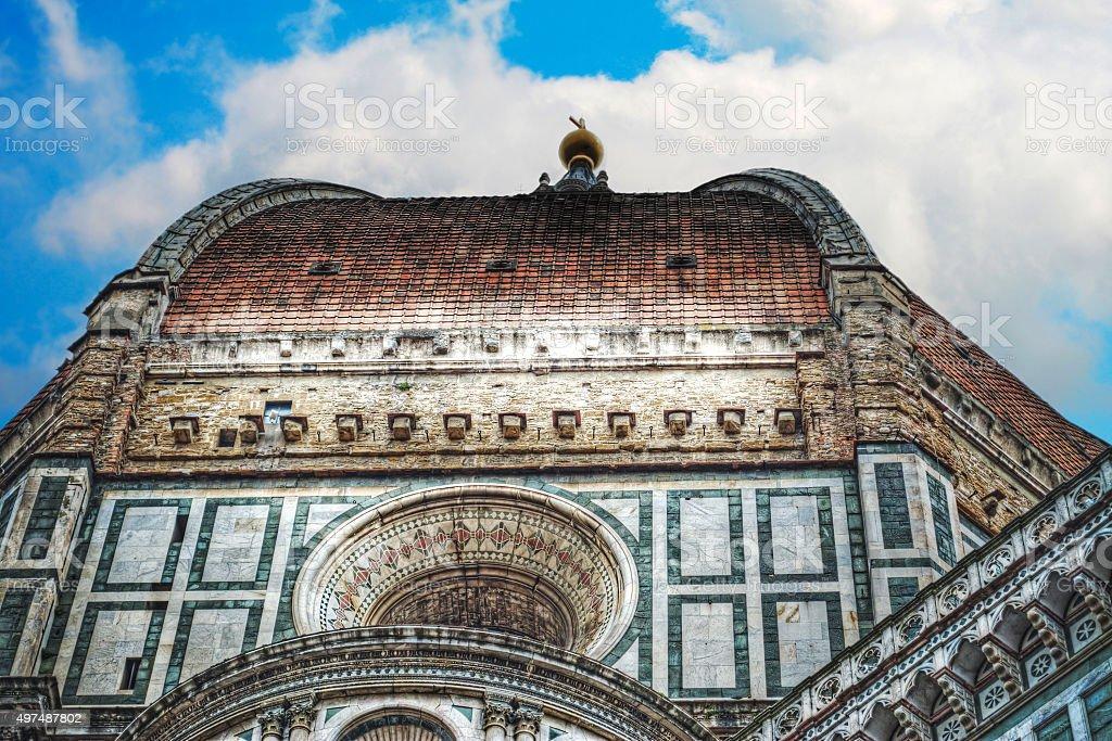 Santa Maria del Fiore dome in Florence stock photo
